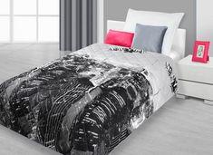 Kvalitní dětské přehozy v tmavě šedé barvě s motivem velkoměsta Comforters, Blanket, Furniture, Home Decor, Creature Comforts, Quilts, Decoration Home, Room Decor, Home Furnishings