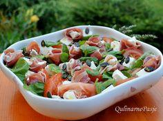 QulinarnePasje: Szybka sałatka z szynką i szpinakiem - pełnia smaku