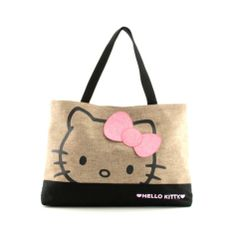 Shop for Hello Kitty Face Tote in Natural at Journeys Shoes. Shop today for the hottest brands in mens shoes and womens shoes at Journeys.com.Burlap tote featuring Hello Kitty graphics, a black canvas bottom, and two carrying handles.
