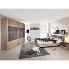 Chambre complète BARCENA 160x200 cm sanremo/gris lave