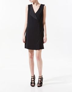 DRESS WITH DOUBLE BREASTED LAPEL - Dresses - Woman - ZARA