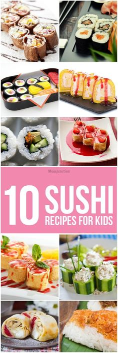 Does your kid dislike the raw taste of the ingredients of sushi? Find these delicious sushi recipes for kids that can inspire him to eat. (Simple Dinner Recipes For Picky Eaters) Vegetarian Meals For Kids, Kids Cooking Recipes, Healthy Meals For Kids, Baby Food Recipes, Kids Meals, Kid Recipes, Whole30 Recipes, Vegetarian Recipes, Healthy Recipes