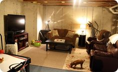 usuable unfinished basement...yep this is gonna be me til the bathroom gets put in and I get more money lol