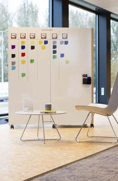 Scrum furniture. By PLAN@OFFICE Design by Frans de la Haye. Scrum office solutions Scrum school solution Scrum and work space Scrum board Team planning