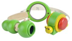 Amazon.com: Plan Toys Planactivity Discovery Set: Toys & Games magnifying glass, telescope, measuring tape