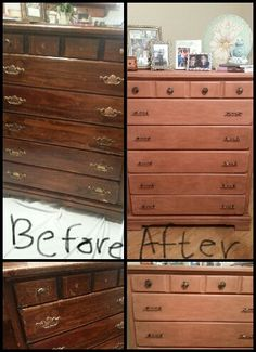 Updated this dresser headed for the junkyard with Annie Sloan Scandinavian Pink chalk paint with dark wax over it.