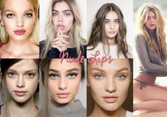 Nude Lips - I think nude lip colours should be a little more on the pink side to avoid the 'concealer lips' effect. It looks more natural and gives more life and colour to a look. Add a little highlight on the cupid's bow and some 8 hour cream on the lips to make the look complete.