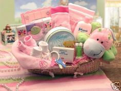 Cute basket idea for baby shower