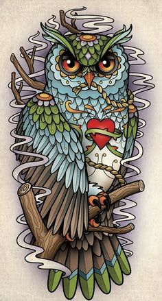Owl Tattoo Flash