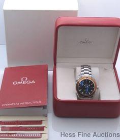 Pre-owned Massive Omega Seamaster Professional Chronometer Orange Bezel Co Axial Watch #Omega #Dress