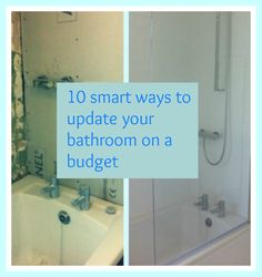 10 smart ways to update your bathroom on a budget. If you are looking for budget bathroom makeover ideas here are 10 fab ideas to inspire you