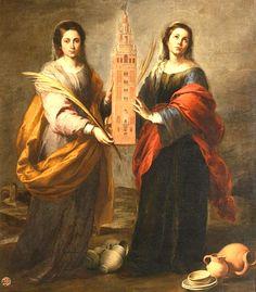 Murillo, Santa Justa and Sata Rufina, c. 1665-66, Museo de Bellas Artes, Sevilla