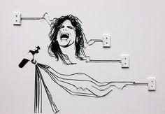 Artist Creates Portraits Of Famous Musicians Using Cassette Tape - DesignTAXI.com