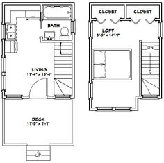 12x16 Tiny House -- #12X16H6 -- 367 sq ft - Excellent Floor Plans
