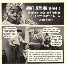 1938 Aunt Jemima Pancake print ad She solves a mystery by Vividiom, $8.00