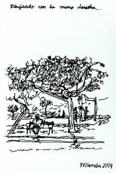 Dibujando con la mano derecha: Parque de las Rehoyas.