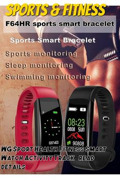 WG Sport Health Fitness Smart Watch Activity Tracker BPM Bluetooth Step Pedometer Information Reminder Wrist Sense Call Alert Sleep Monitoring Alarm Calorie Counter iOS and Android