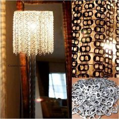 Use soda can pieces to create a cool lamp.