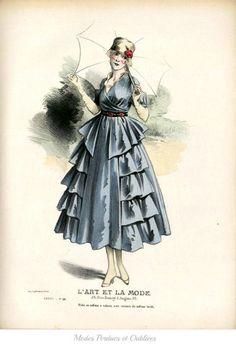 1916 fashion illustration