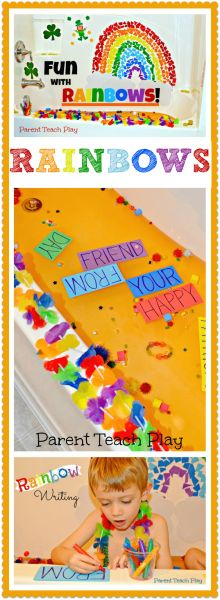 Fun with Rainbows: Color & Writing Play for Kids from Parent Teach Play