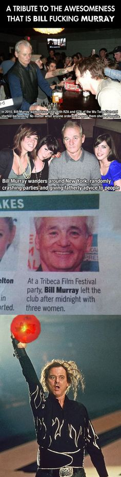 Bill Murray tribute…