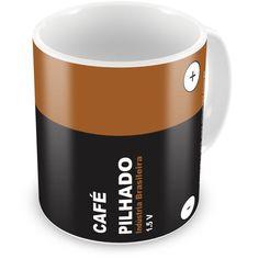 Caneca Personalizada Café Pilhado - ArtePress - Brindes em Almofadas, Canecas, Copos, Squeeze