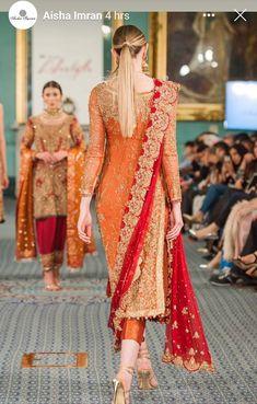 - Source by kathrin_beate - Pakistani Fashion Party Wear, Pakistani Wedding Outfits, Indian Fashion Dresses, Dress Indian Style, Indian Bridal Outfits, Indian Designer Outfits, Fancy Dress Design, Bridal Dress Design, Stylish Dress Designs