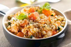 Risotto de quinoa, courgettes et saumon au Thermomix - Cookomix