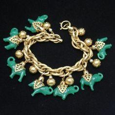 Napier Elephant Charm Bracelet