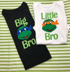 A personal favorite from my Etsy shop https://www.etsy.com/listing/527501998/ninja-turtle-shirt-big-bro-shirt-little