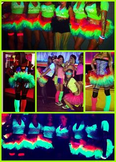 Neon tutus that glow in the dark