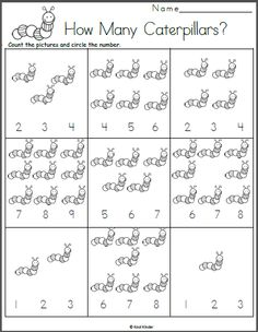 Free spring math worksheet for preschool and kindergarten. Count the pictures and circle the number that matches. With this printable worksheet, students practice counting and… Patterning Kindergarten, Kindergarten Readiness, Kindergarten Math Worksheets, Free Worksheets, Printable Worksheets, Maths, Free Preschool, Preschool Printables, Free Math