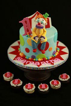 Lucks Carnival Creation Contest 2013 - By Andrea Sullivan of Andrea's SweetCakes Circus Theme Cakes, Themed Cakes, Carnival Birthday Parties, Circus Birthday, Circus Party, Clown Cake, Birthday Cake Girls, Birthday Cakes, Invitation