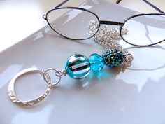 Silver Eyeglass Lanyard  Pretty Girl Blues  by EyeglassLanyards, $15.99  Visit my Etsy Store https://www.etsy.com/shop/EyeglassLanyards