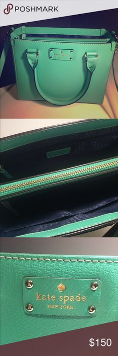 Kate Spade Purse This beautiful Kate Spade open top purse was purchased in 2015 & has only been used a few times. Excellent condition! The strap is detachable. Perfect size for a large wallet, a book, sunglasses, phone & everything you could want to carry! kate spade Bags Crossbody Bags