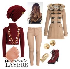 """Winter Layers"" by xx-zaina-xx on Polyvore featuring Burberry, Nine West, Karl Lagerfeld, H&M, BP., Eddie Borgo, women's clothing, women, female and woman"