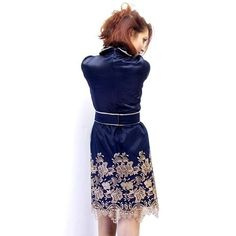 Baroque royal gold embroidery dress  beige custom by Donastyle, $125.00