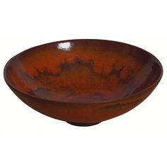"""Gertrud and Otto Natzler bowl, orange and brown glaze, marked """"Natzler"""" with paper label x Source Of Inspiration, Pottery Vase, Ceramic Artists, Image Collection, Decorative Bowls, Modern Art, Arts And Crafts, Auction, Porcelain"""
