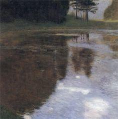 Lake Attersee / Ein Morgen am Teiche 1899