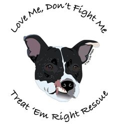 Jagger for Treat 'Em Right Rescue - Dog Rescue T-shirt. $20.00, via Etsy.