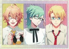 UtaPri ~~ Stripes and Specs :: Natsuki, Ai and Syo