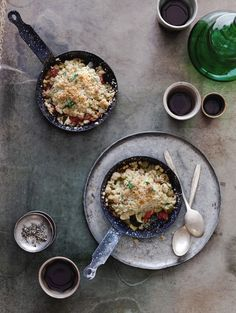 Matt Bites' Vegetable Crumble zucchini, yellow squash, eggplant, roma tomatoes, onion, garlic, & yum