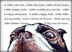 My little Boston Terrier art print by CartoonYourMemories on Etsy