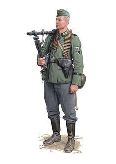 Machine gunner with MG 34