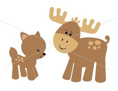 baby moose and deer by smiles and squiggles, via Flickr