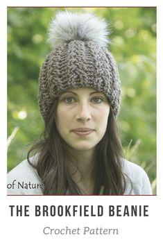 Cute crochet pattern! Love these fur pom pom hats! #afflink