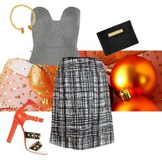 Wear the Hellen van Rees WEAR skirt for Christmas and match it with any colour you love the most! Louboutin heels, Pedro del Hierro Madrid top. #Christmas #inspiration #xmas #outfit #whattowear #howtowear #tangerine #organce #louboutin #