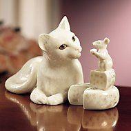 Lenox - Making Friends Cat & Mouse Sculpture