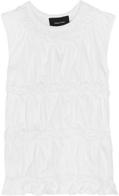 Simone Rocha Gathered Cotton-Jersey Top