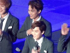 No! Hahahaha Kai!! Can't stop laughing poor SuHo let my cute leader danc... do that a little more ♥♥♥♥